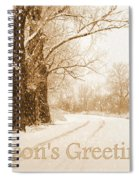 Soft Sepia Season's Greetings Card Spiral Notebook