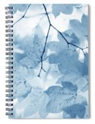 Softness Of Blue Leaves Spiral Notebook