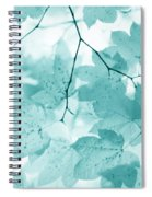 Softness Of Teal Maple Leaves Spiral Notebook