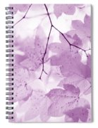 Softness Of Violet Maple Leaves Spiral Notebook