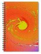 Solar Flare Over Ocean Spiral Notebook