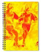 Solar Soccer Spiral Notebook