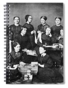 Soldiers Aid Society, 1863 Spiral Notebook