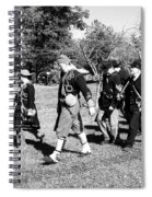 Soldiers March Black And White IIi Spiral Notebook