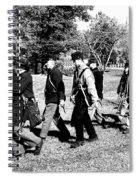 Soldiers March Black And White Spiral Notebook