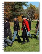 Soldiers March Color Spiral Notebook