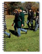 Soldiers March Two By Two Spiral Notebook
