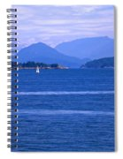 Solitary Sailing Spiral Notebook