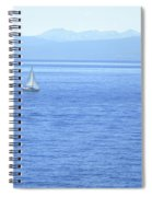 Solitary Sailing On Lake Tahoe Spiral Notebook