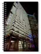 Sony Center At Night Spiral Notebook