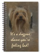 Sorry You're Sick Greeting Card - Cute Doggie Spiral Notebook