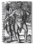 South Africa: Hottetot Man Spiral Notebook