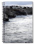 Menorca South Coast In A Stormy Mediterranean Day Spiral Notebook