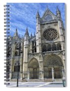 South Facade Of Leon White Gothic Spiral Notebook