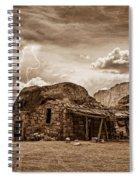 Southwest Indian Rock House And Lightning Striking Spiral Notebook
