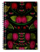 Spanish Flamenco Roses In Fantasy Style Spiral Notebook