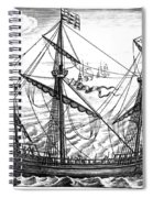 Spanish Ship, C1595 Spiral Notebook