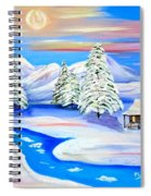 Sparkling Winter Spiral Notebook