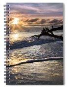 Sparkly Water At Driftwood Beach Spiral Notebook