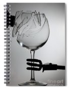 Speaker Breaking A Glass With Sound Spiral Notebook