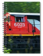 Speeding Cn Train Spiral Notebook