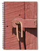 Spiderweb On A Latch Spiral Notebook