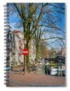 Spiegelgracht 36. Amsterdam Spiral Notebook