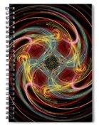Spin Fractal Spiral Notebook