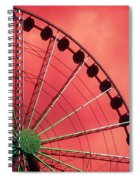 Spinning Wheel Spiral Notebook
