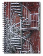 Spiral Staircase With Snow And Cooper's Hawk Spiral Notebook