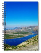 Spirit Lake From Windy Point  Spiral Notebook