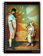 Spirit Of Freedom - Soldier And Son Spiral Notebook