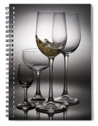 Splashing Wine In Wine Glasses Spiral Notebook