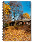 Splendor Of Autumn. Wooden House Spiral Notebook