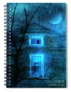 Spooky House With Moon Spiral Notebook
