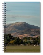 Sport Complex And The Butte Spiral Notebook