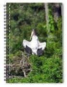 Spread Stork Spiral Notebook