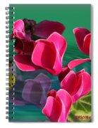 Spring Cyclamen Spiral Notebook