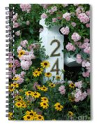 Spring Flowers And Fencepost Spiral Notebook