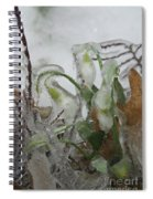 Spring Flowers In Ice Storm Spiral Notebook
