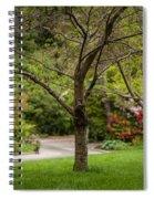 Spring Garden Landscape Spiral Notebook