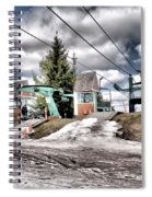 Spring Mud Skiing Spiral Notebook