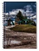 Spring Skiing Spiral Notebook