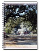 Spring Walk Through Forsyth Park Spiral Notebook