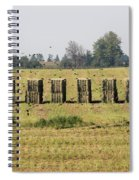 Square Hay Bales Spiral Notebook