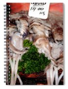 Squid For Sale Spiral Notebook