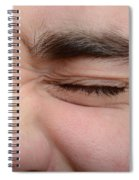 Squinting Eyes Spiral Notebook