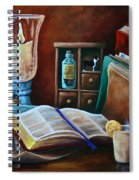 Srb Candlelit Library Spiral Notebook