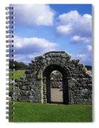 St Brigids Church, Inis Cealtra Holy Spiral Notebook