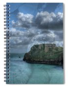 St Catherines Rock Tenby With A Shell Texture Spiral Notebook